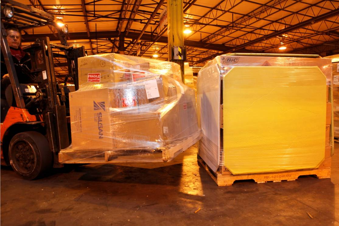 LODE-LOC Panel deflects forklift impacts.